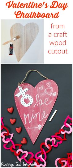 Turn an unfinished wood heart into an adorable DIY Valentine's Day Chalkboard for a sweet addition to your Valentine's Day decor! This is an easy Valentine's Day craft idea that anybody can make!