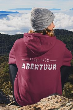 Ready for adventure - Bereit für Abentüür auf Schweizerdeutsch. Pullover, Hoodies, Sweatshirts, Sweaters, Fashion, Woman, Moda, Fashion Styles, Parka