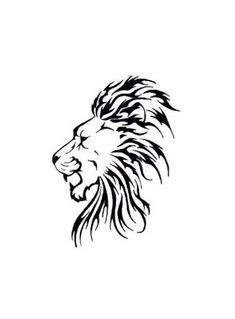 Ideas Tattoo Lion Sketch Art Prints For 2019 Tribal Lion Tattoo, Lion Head Tattoos, Lion Tattoo Design, Tattoo Designs, Elephant Tattoos, Animal Tattoos, Lion Head Drawing, Lion Sketch, Profile Drawing