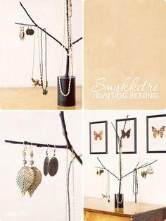 DIY branch Jewelery storage_learning to love white_DIY jewelery holder_interior design blog