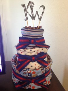 My very first DIY diaper cake!!! So excited!! Finally I have something to pin of my own!!!