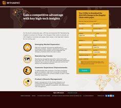"""UPS """"We love logistics"""" white paper landing page. I bet they're glad they kept their signature brown--it's IN now! Nice looking page, good use of graphics in the background, love the icons."""