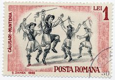 1965 Romanian Stamp - Folk Dances | Design by S. Zainea.