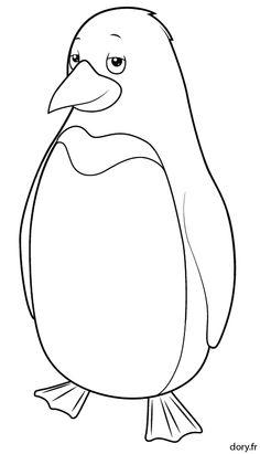 Dessin à colorier, un pingouin