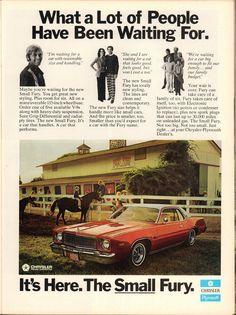 1975 Plymouth Small Fury Advertisement Motor Trend November 1974
