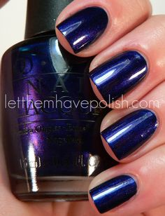 O.P.I Russian Navy Totally loving this color...