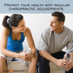 Regular chiropractic adjustments maintain the brain's control of your body to keep you healthy.