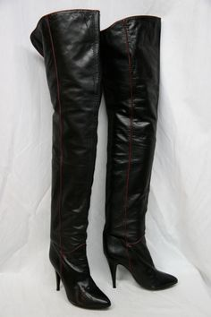 Stiletto Boots, Heeled Boots, Thigh High Boots, Over The Knee Boots, Vintage Boots, Sexy Boots, High Heels Stilettos, Fashion Boots, 1980s