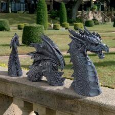 Medieval Statues & Sculptures for Sale - Design Toscano Garden Statues, Garden Sculpture, Sculpture Ideas, Statue Art, Dragon Garden, Gothic Garden, Witchy Garden, Balance Art, Dragon Statue