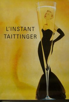 Grace Kelly for Tattinger champagne Vintage Ads, Vintage Images, Vintage Posters, Vintage Stuff, Taittinger Champagne, Vintage Champagne, Advertising Poster, Free Prints, Pretty Art