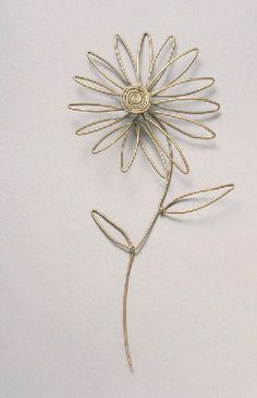 Daisy |  Alexander Calder.  Brass Wire.  ca 1950.  Sold by Christies NY on 16th March 2006 for 72,000$