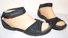 Merrell Spirit Wrap Black Ankle Strap Sandals US 8M Rtl $90 #Merrell #FlipFlops