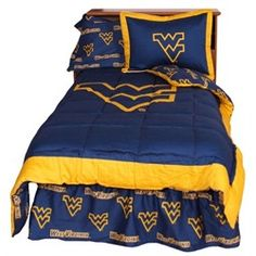 West Virginia Mountaineers Bedding Comforter & Sham Set