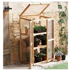 Mini Greenhouse Kit for Indoors or Outdoors - Backyard Landscaping Miniature Greenhouse, Best Greenhouse, Portable Greenhouse, Backyard Greenhouse, Greenhouse Plans, Backyard Landscaping, Greenhouse Wedding, Diy Small Greenhouse, Homemade Greenhouse