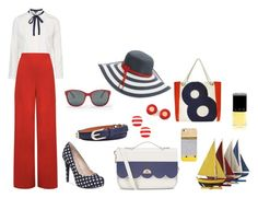 NYC - Boat Party by prettyfunnygirlatx on Polyvore featuring Topshop, WearAll, BCBGeneration, Ella Vickers, The Cambridge Satchel Company, Kate Spade, Hermès, Betmar, Ralph Lauren and Anne Klein