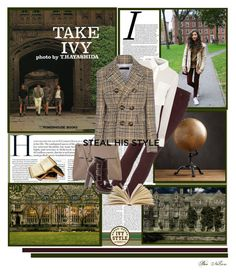"""""""Ivy Style"""" by beenelson ❤ liked on Polyvore featuring Restoration Hardware, Topshop, T By Alexander Wang, Dsquared2, Myriam Schaefer and ASOS"""