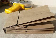 The Sew*er, The Caker, The CopyCat Maker: How To Build A Paper Bag Album - Teachers gift idea - Paper Bag Books, Paper Bag Crafts, Paper Bag Album, Diy Paper, Mini Photo Albums, Mini Albums Scrap, Mini Scrapbook Albums, Diy Journal, Junk Journal