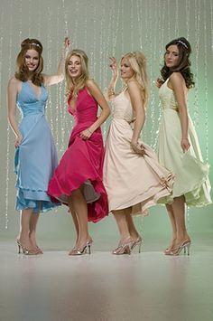 dark pink bridesmaid dress