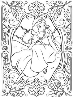 Celebrate National Coloring Book Day with Disney Style | Snow White printable coloring page | [ http://di.sn/6006B0K6k ]
