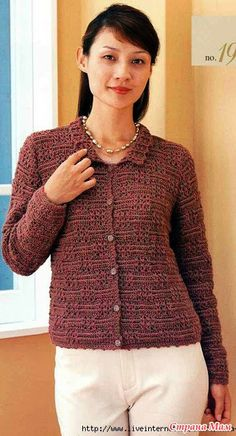Jacket with textured pattern. Hook. - Knitted fashion + NEMODELNYH FOR LADIES - Country Mom