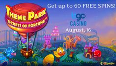 Deposit £15 - £60 with #‎bonuscode: FEST today and get up to 60 FREE SPINS on the Theme Park slot at the bgo casino.    #bonushunt #freespins #casinobonus #gamblingnews