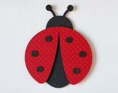 Ladybug Wall Decor Childrens Wall Decor Customized Matted Art Nursery Decor Cute Ladybug. $19.00, via Etsy.