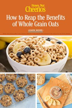 Curious about whole grain oats? Find out about their inherent goodness and how to get your daily dose Baking Recipes, Snack Recipes, Dessert Recipes, Vegan Recipes, Desserts, Cheerios Recipes, Herbalife Shake Recipes, Aesthetic Food, Morning Food