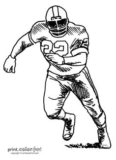football player print color fun free printables coloring pages crafts - Free Printable Football Coloring Pages