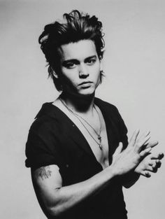 Johnny Depp by Patrick Demarchelier, 1986.