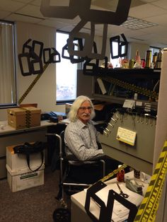 60th birthday office cube prank