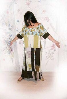 LEL-handmade / lel,plus size maxišaty letné Hippie Boho, New Look, Kimono Top, Plus Size, Handmade, Tops, Women, Fashion, Moda