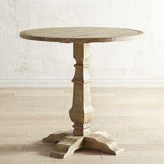 bradding natural stonewash counter table - Cb2 Element Couchtisch
