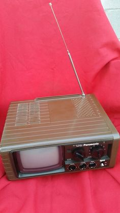 Vintage 1980 Panasonic Black White Portable TV AM/FM Radio Model No. TR-515   eBay