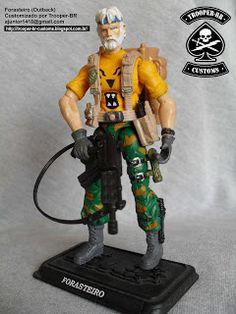 Gi joe Custom Action Figures: Forasteiro - Força Tigre I Outback - Tiger Force