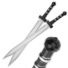 "Gladiator Combat ""Deadly Twin"" Sword Set with Nylon Double Sheath $40"