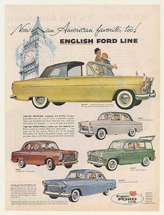English Ford Consul Convertible Prefect Anglia (1959)