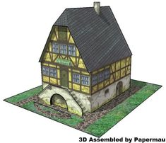 This is the Wine Inn , a vintage paper model originally published in 1981 by Fixi & Foxi, a German kids magazine. This model was pres...