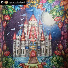 Inspiração da noite  Mais um colorido do @renatodonizeti,fiquei apaixonada por esse castelinho!