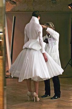 Coulisses défilé Dior