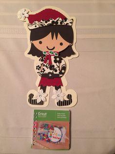 Diva Elf made with Cricut, Create a Friend, cartridge By Deb & Monica