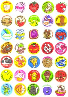 Scratch and sniff stickers.....trading stickers and having books to keep them in :)