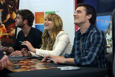 "Josh Hutcherson Photos Photos: ""The Hunger Games"" Cast Tour Stops in Seattle, WA Hunger Games Cast, Katniss And Peeta, Josh Hutcherson, Liam Hemsworth, Staying Alive, Jennifer Lawrence, It Cast, Tours, Film"