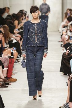 Chanel 2014 resort collection, some embroidered denim