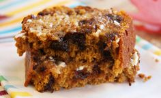 The Best Pumpkin Bread - I'm not sure about putting chocolate chips in it instead of raisins.  Guess I'm a purist.  But the cook says her secret recipe for tea breads is 6 oz of yogurt to make it moist.  Our pumpkin recipe is pretty moist, but it might help other tea bread recipes.  Or even cake.  Worth looking in to.