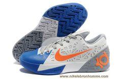 hot sale online 3738f e640e Nouveau Nike Zoom KD 6 Blanc Bleu Orange Nike Lebron, Lebron 11, Lebron  James