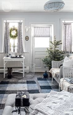 House tour: Rustic Nordic holiday style