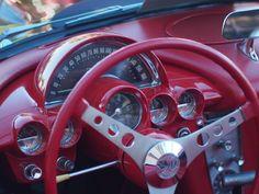 C1 Corvette steering wheel and dashboard