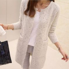 2016 New autumn winter Women Casual Long Sleeve Knitted Cardigans Crochet Ladies Sweaters Fashion Tricotado Cardigan Top,DJ4002