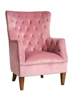 pale pink velvet chair - Google Search