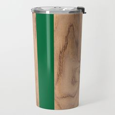 Wood Grain Stripes - Green Travel Mug by Natural Collective Co. Geometric Decor, Wood Texture, Wood Grain, Plank, Travel Mug, Hardwood, Grains, Triangle, Stripes